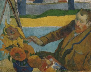 Paul Gauguin, Vincent van Gogh zonnebloemen schilderend, 1888, Van Gogh Museum, Amsterdam