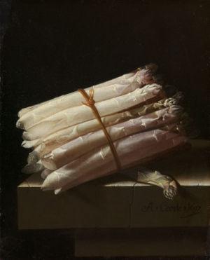 Adriaen Coorte, Stilleven met asperges, 1697, Rijksmuseum, Amsterdam