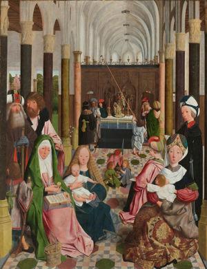 Geertgen tot Sint Jans (atelier van),  De heilige maagschap, ca. 1495, Rijksmuseum, Amsterdam