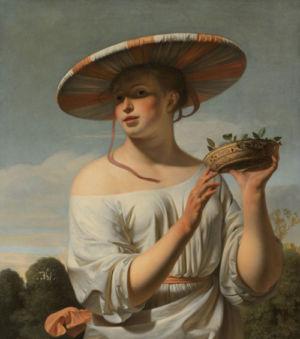 Caesar Boëtius van Everdingen, Meisje met een brede hoed, ca. 1645 - ca. 1650, Rijksmuseum, Amsterdam