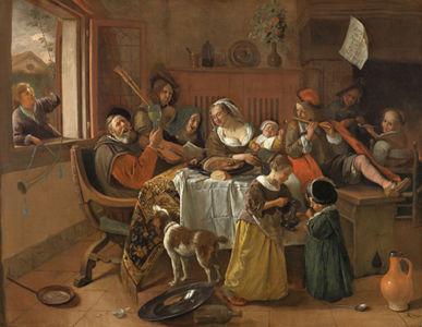 Jan Havicksz. Steen, Het vrolijke huisgezin, 1668, Rijksmuseum, Amsterdam