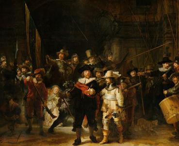 Rembrandt Harmensz. van Rijn, Nachtwacht, Schutters van wijk II onder leiding van kapitein Frans Banninck Cocq, 1642, Rijksmuseum, Amsterdam
