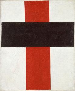 Kazimir Malevich, large cross in black over red on white, 1920, Stedelijk Museum, Amsterdam. Suprematisme, wat is dat nou? Bezoek het Stedelijk Museum met een ervaren gids.